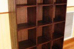 Bookcase  made from victorian ash tinted to get the walnut deep brown. 7   Copy